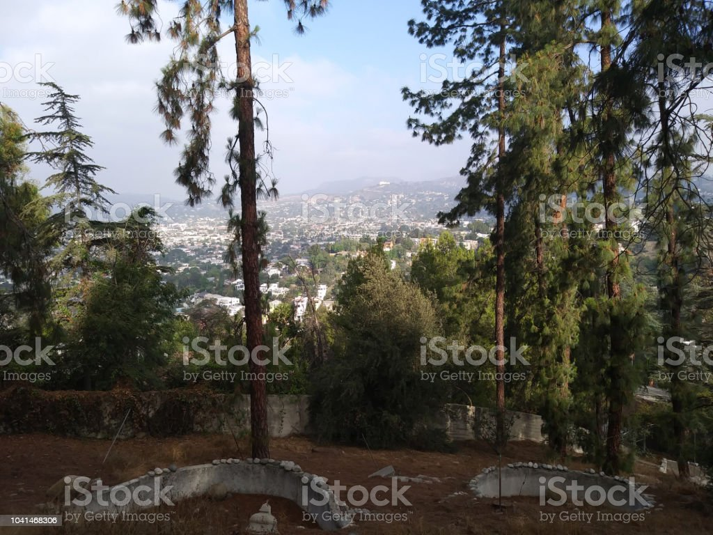 A Sunny Day in Silver Lake, CA stock photo