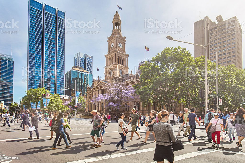 Sunny day in Sydney stock photo