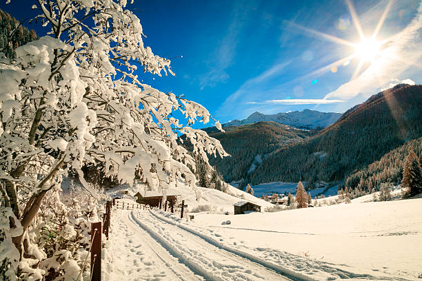 Sunny day in the alps after the snowfall – Foto