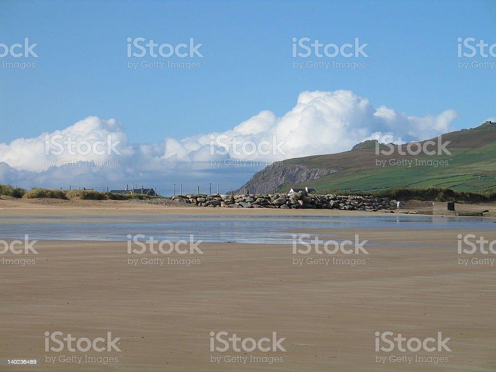 Sunny day on a beach in Kerry, Ireland stock photo