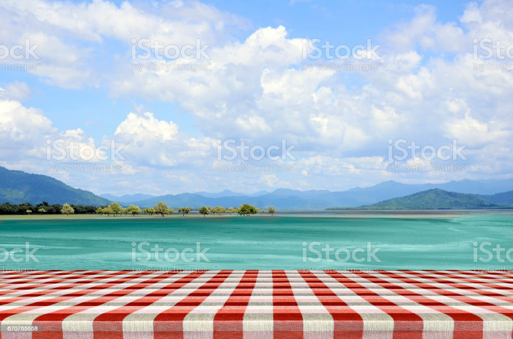 Sunny day with blue sky background. stock photo