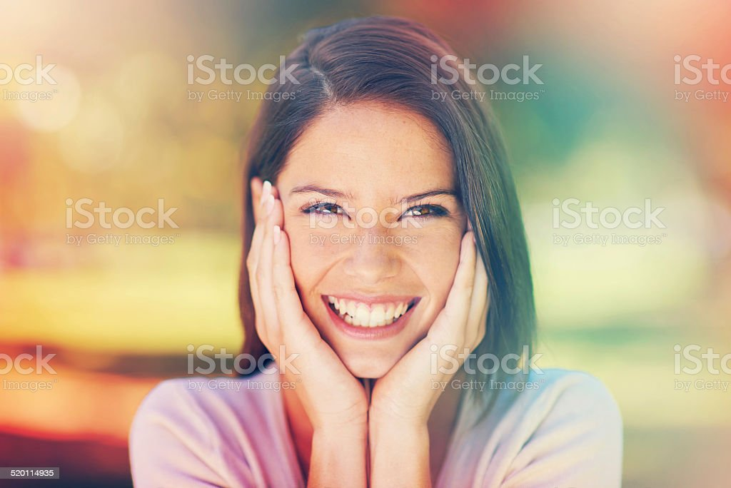 Sunny days and smiles stock photo