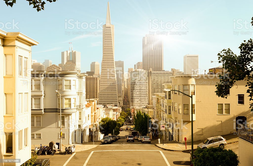 Sunny daytime view of San Francisco cityscape royalty-free stock photo