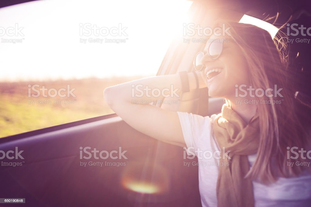 Sunny fun day stock photo