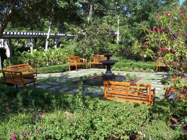 Sunny Garden Spot stock photo