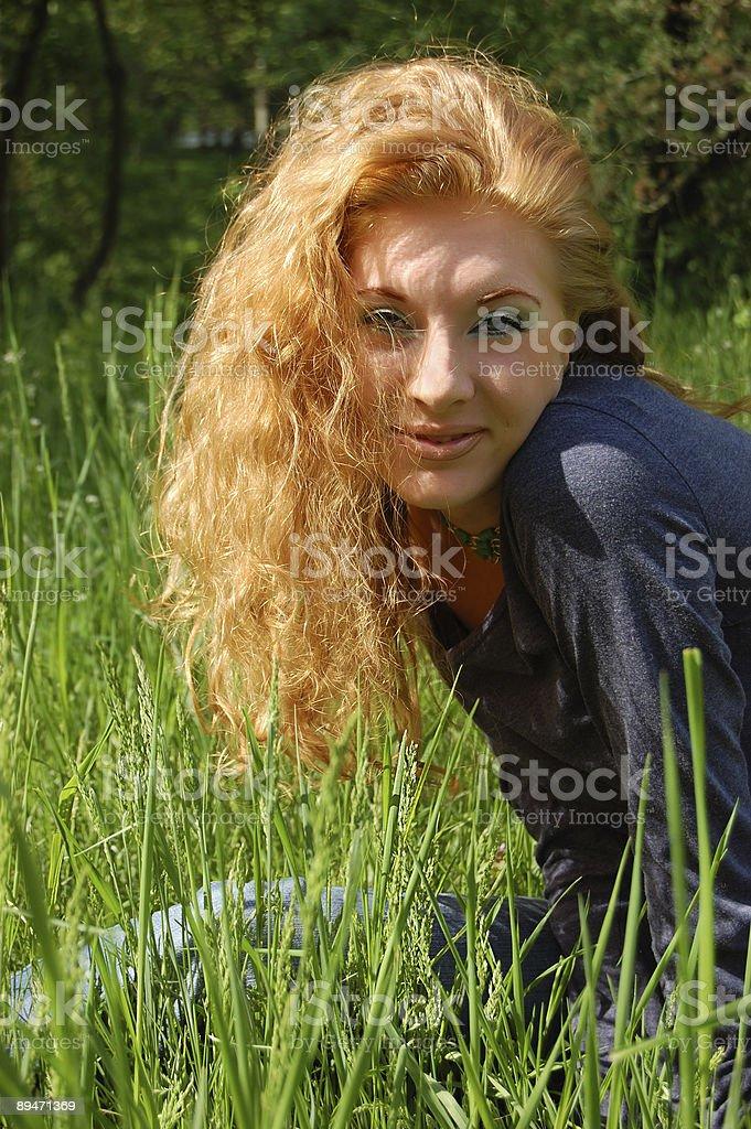 Солнечный девушка Стоковые фото Стоковая фотография