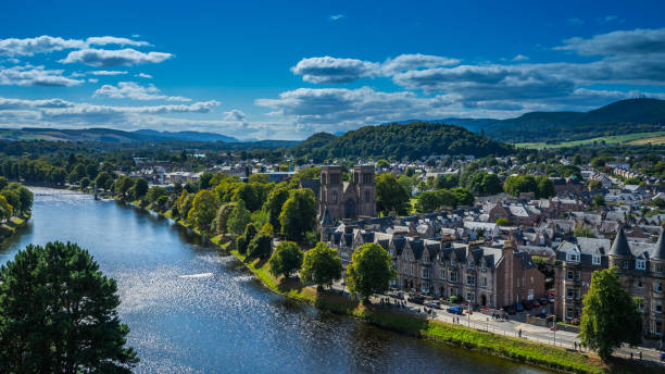 Sunny Inverness View of Inverness on a sunny day inverness scotland stock pictures, royalty-free photos & images