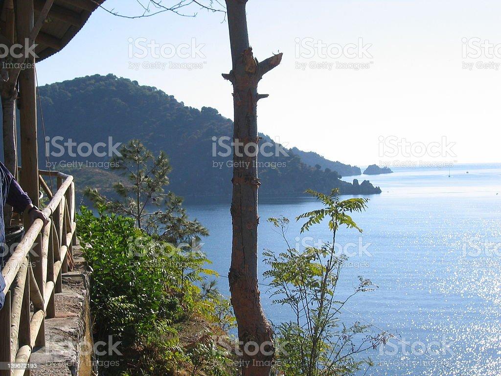 sunny island stock photo