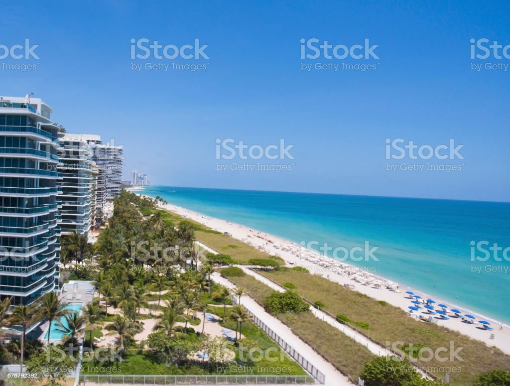 Sunny Isles Beach Miami. Ocean front residences. stock photo
