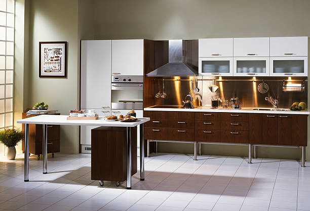 Sunny Kitchen A modern condo kitchen grifare stock pictures, royalty-free photos & images