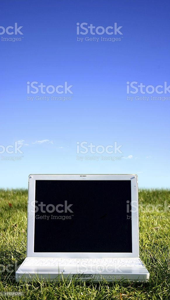 Sunny laptop royalty-free stock photo
