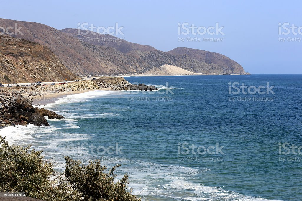 Sunny Malibu stock photo