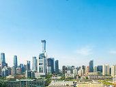 Sunny morning in the modern city of Beijing