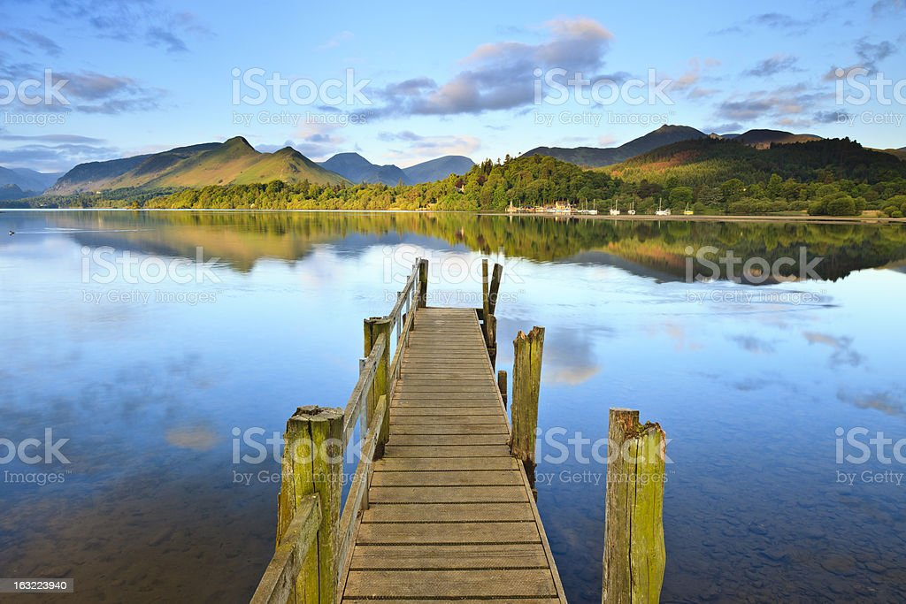Sunny Morning Jetty stock photo