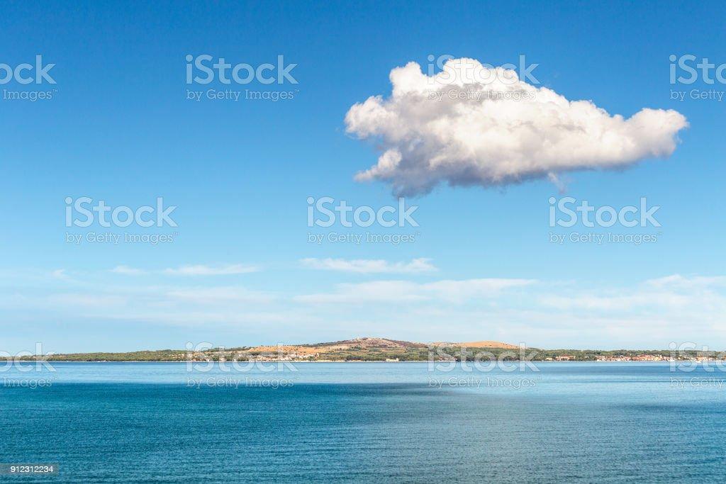 Sunny morning on the Adriatic Sea. stock photo