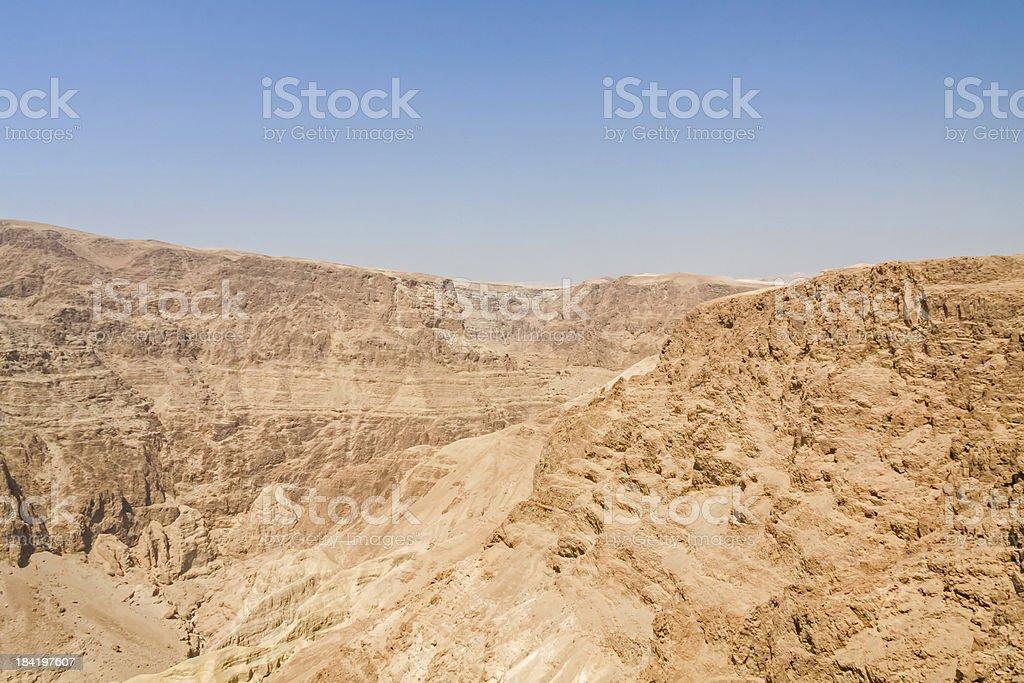 Sunny mountain landscape in Judean desert royalty-free stock photo