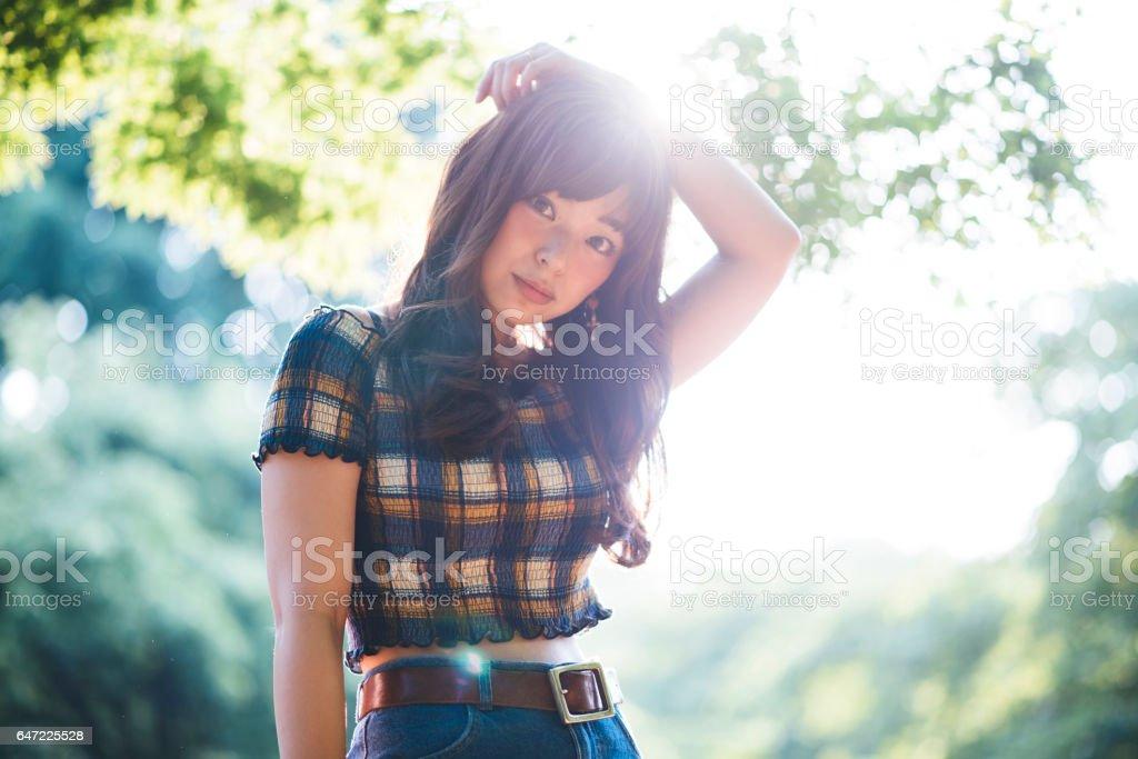 Sunny portrait stock photo