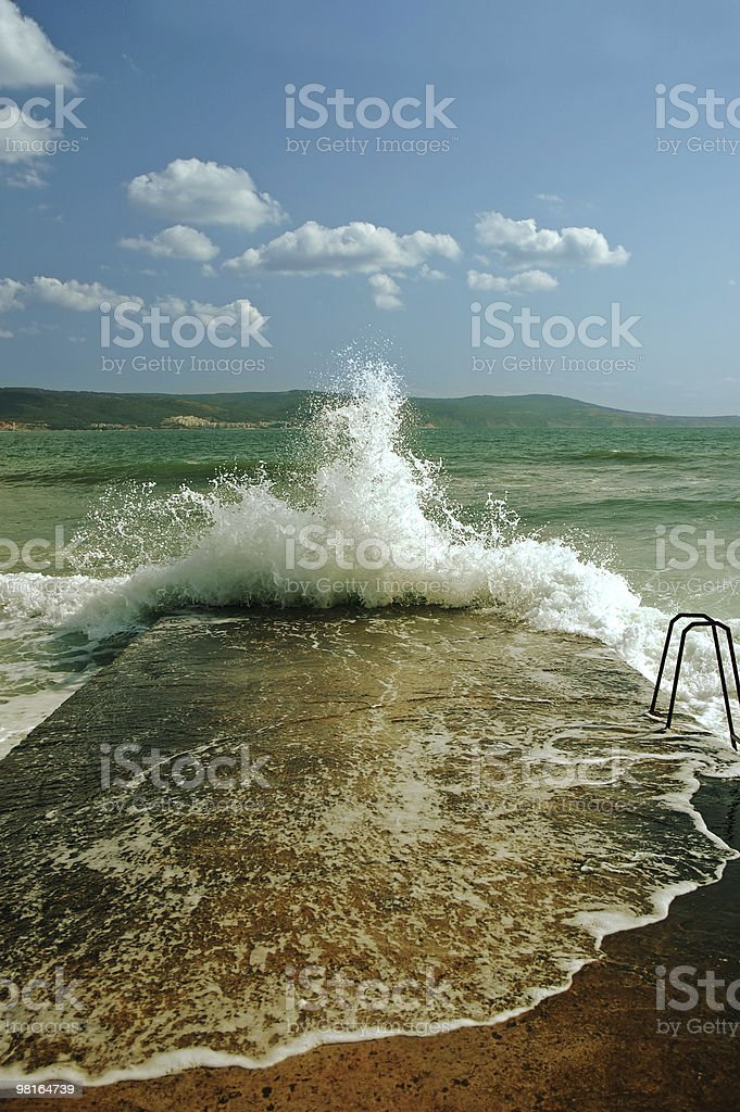 Sunny private beach royalty-free stock photo