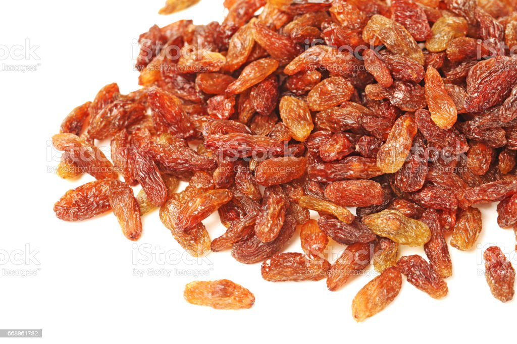 Sunny Raisins  on white background foto stock royalty-free