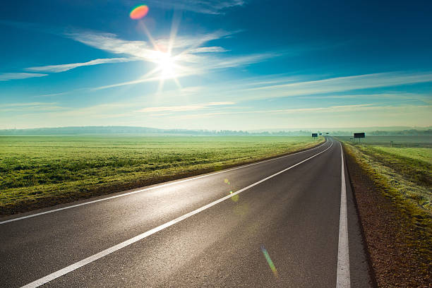 sunny road - longo - fotografias e filmes do acervo