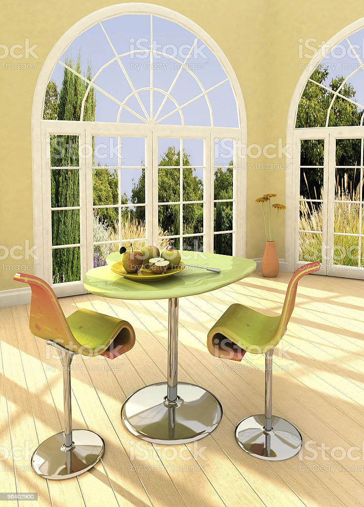 Sunny room - Royalty-free Apple - Fruit Stock Photo
