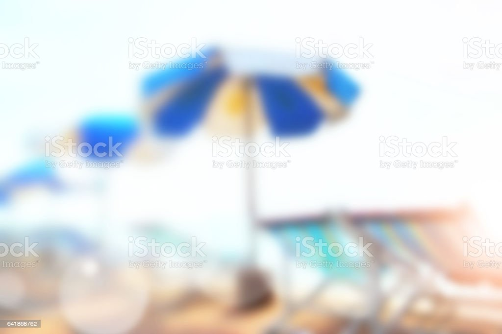 Sunny sandy beach stock photo