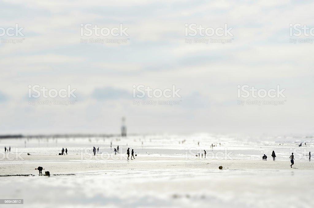 Sunny sandy beach (Minature model fake) royalty-free stock photo