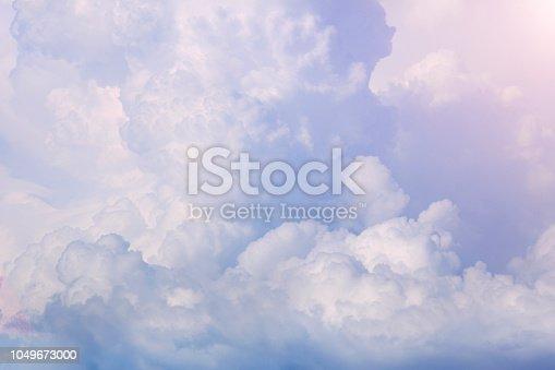 479184640 istock photo Sunny sky background 1049673000