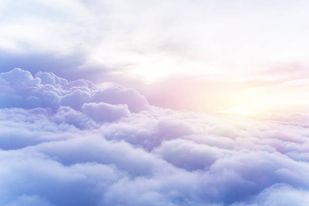 sunny sky background - clouds stock photos and pictures