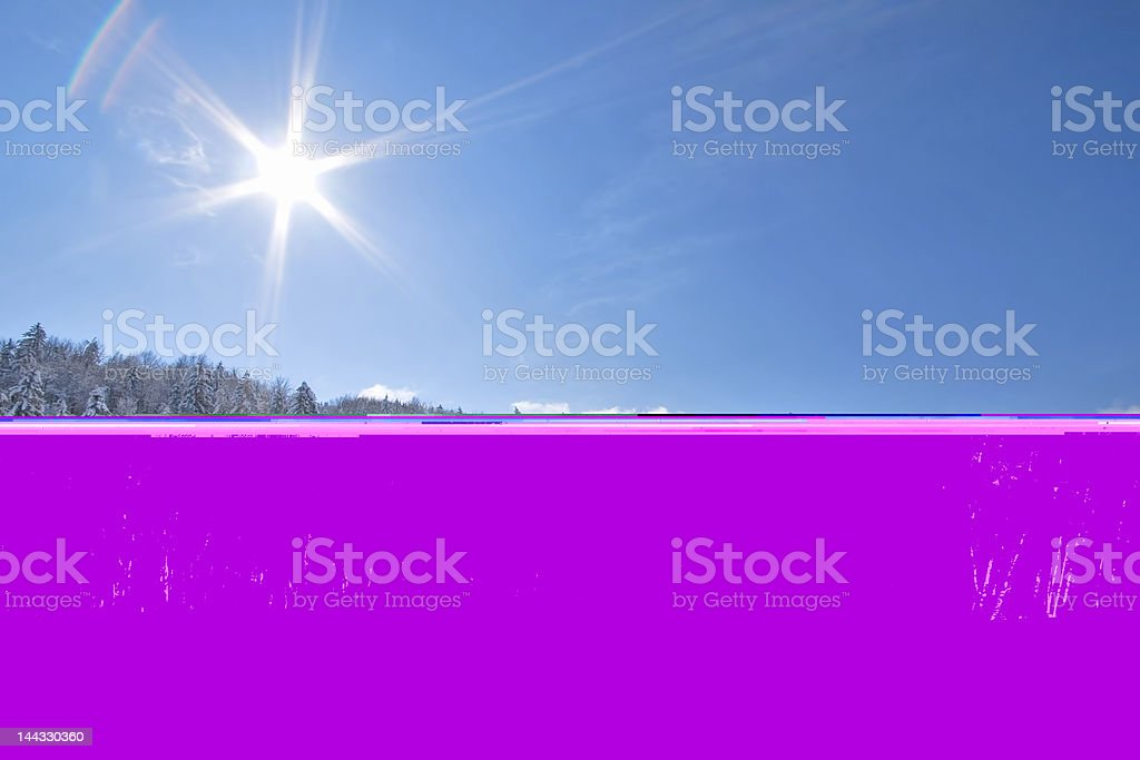Sunny snow Landscape royalty-free stock photo
