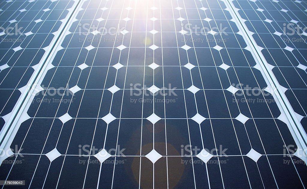 Sunny Solar Panels royalty-free stock photo