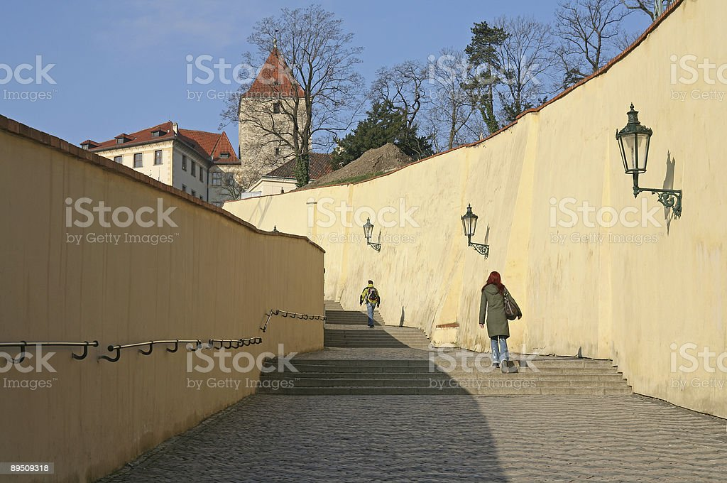 Sunny stairs royalty-free stock photo