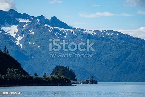 Sunny summer day in the port of Valdez Alaska