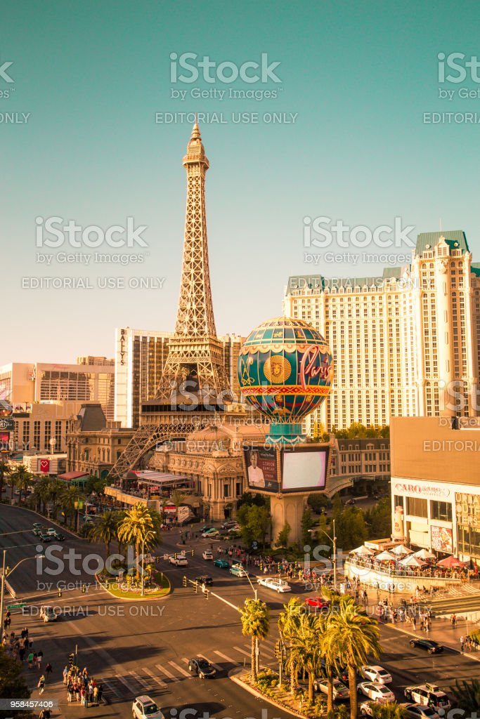 Sunny Vegas stock photo