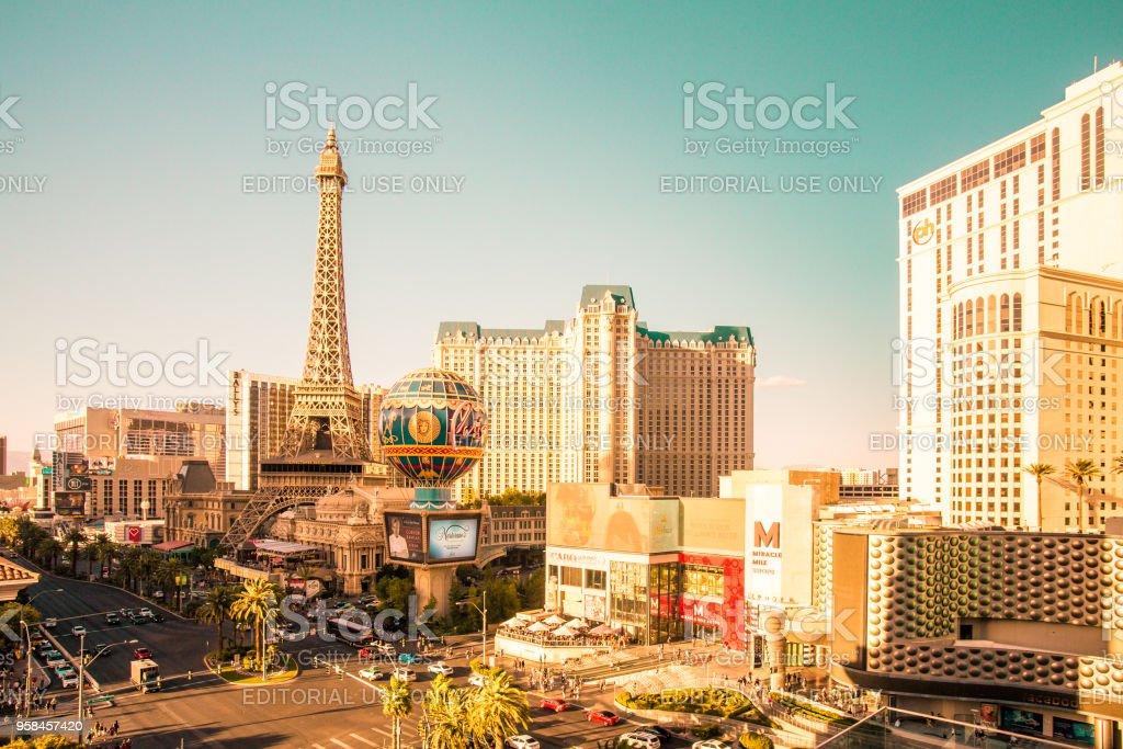 Sunny Vegas stock photo