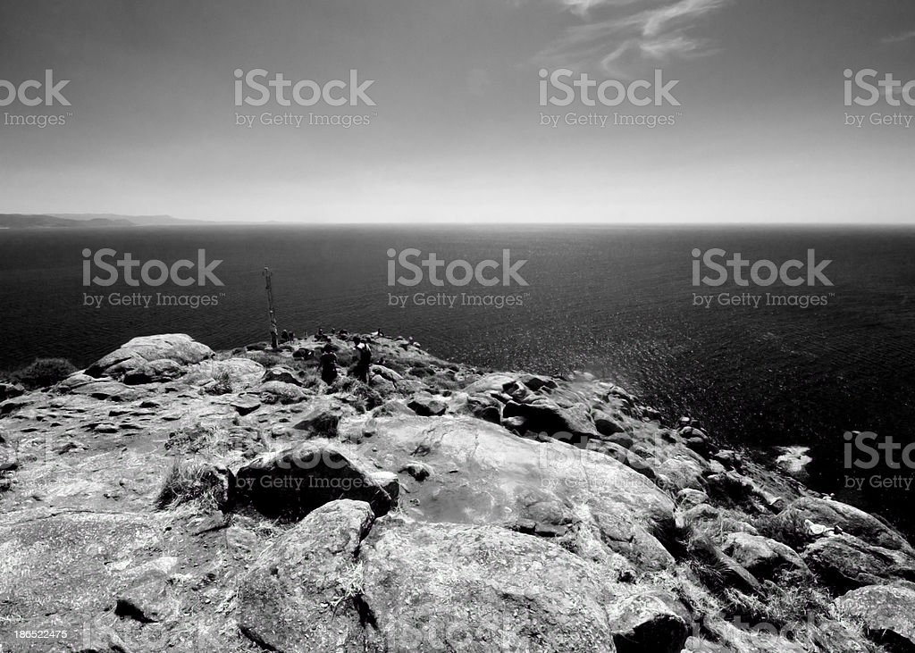 Sunny view of Finisterre, Galicia, Spain royalty-free stock photo