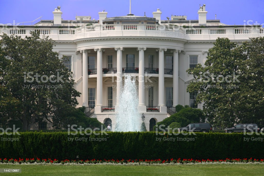 Sunny White House royalty-free stock photo