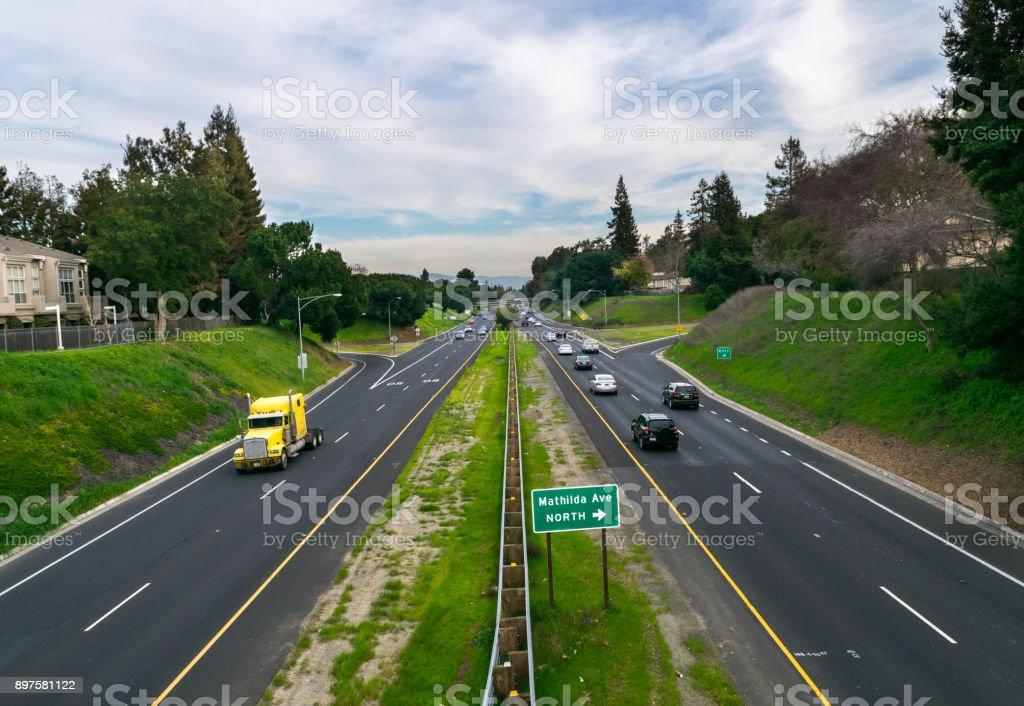 Sunnyvale Highway, California, USA stock photo