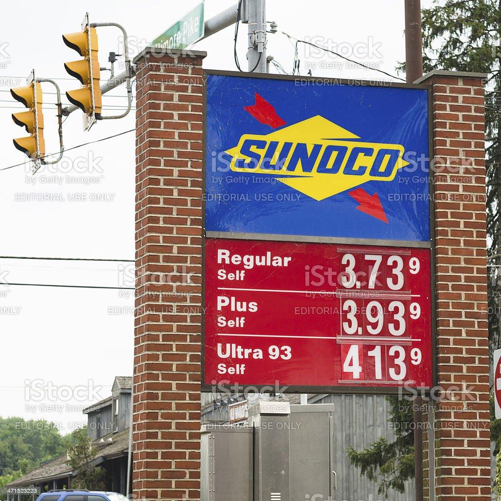 Sunoco Gas Station royalty-free stock photo