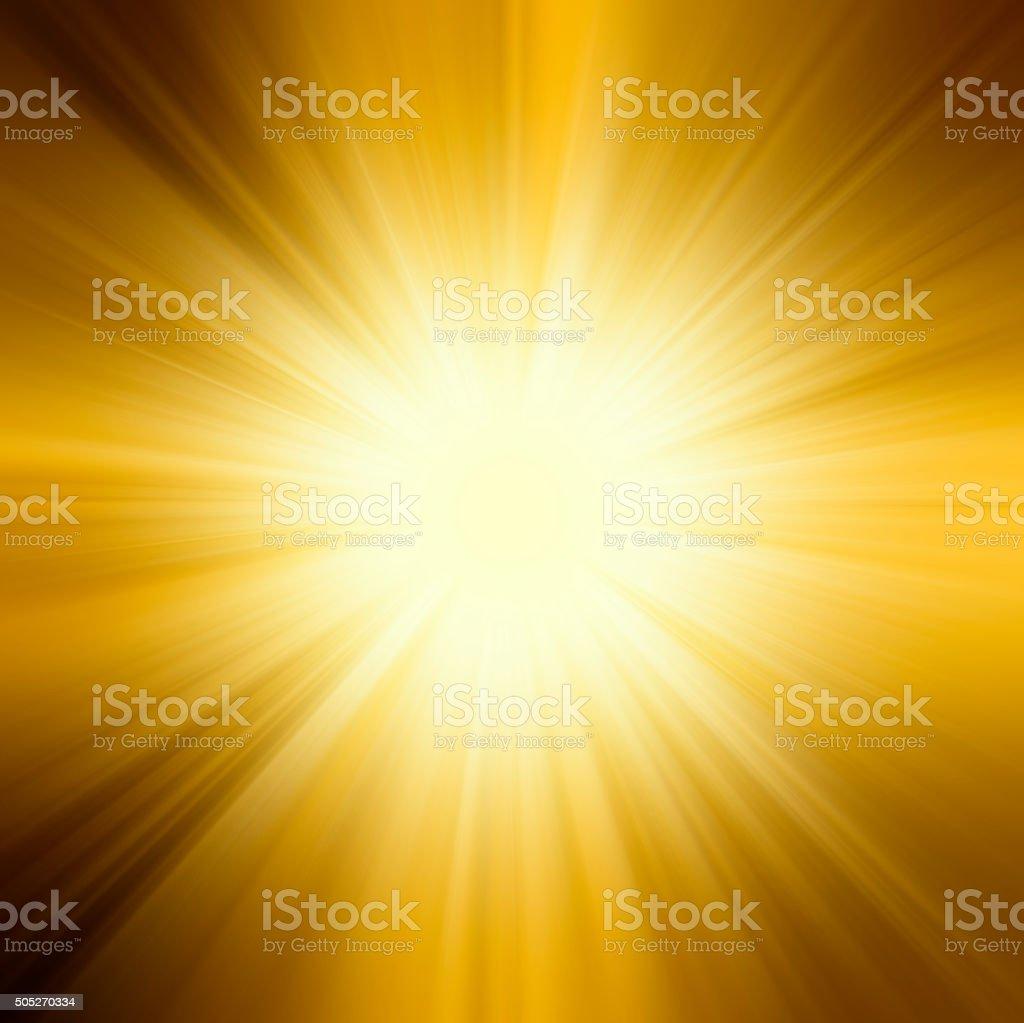 sun,orange yellow and rays background stock photo