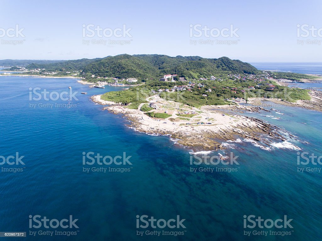 Sunosaki, Tateyama, Chiba, Japan aerial view ストックフォト
