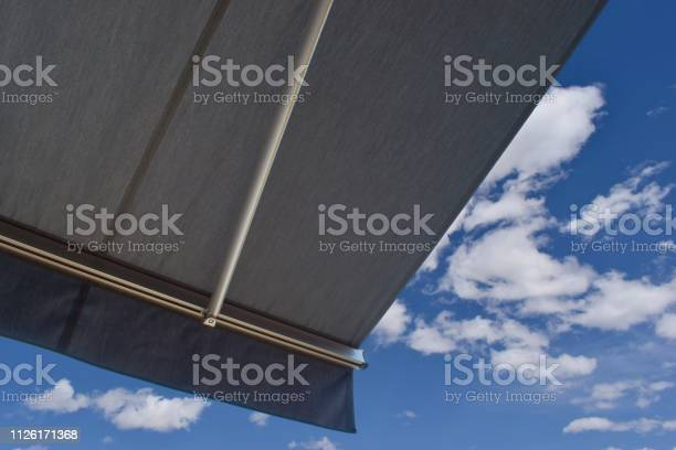 Photo of Sunprotecting awning from fabric material
