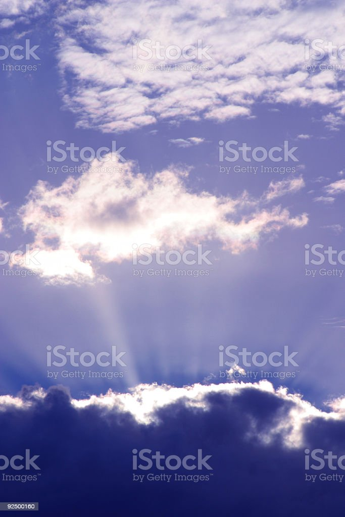 Sunray Clouds royalty-free stock photo