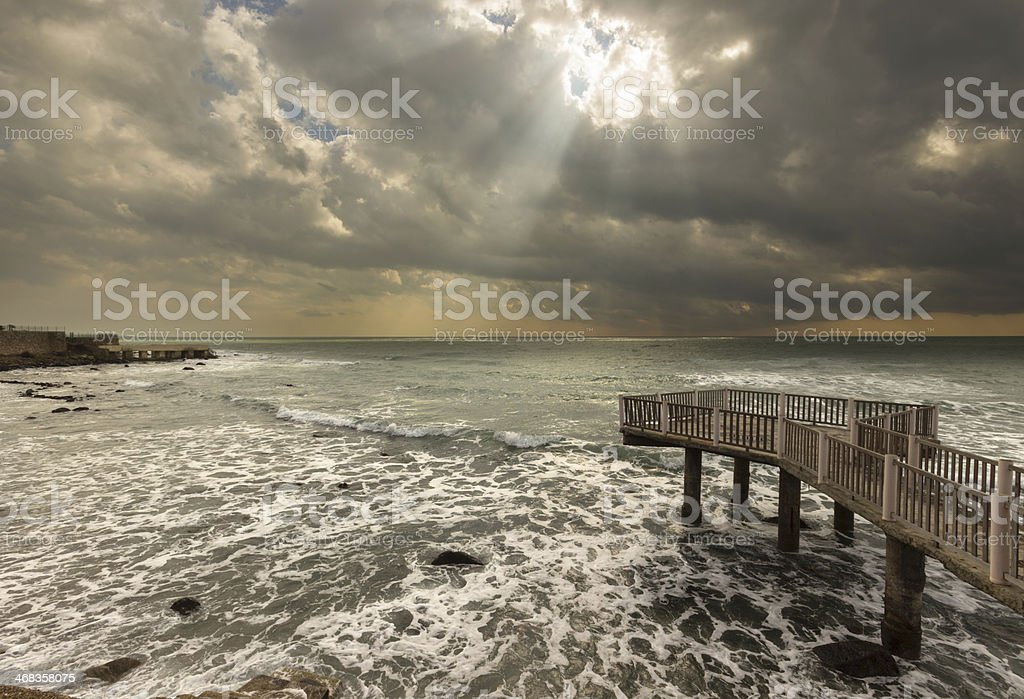 Sunray seascape 2 royalty-free stock photo