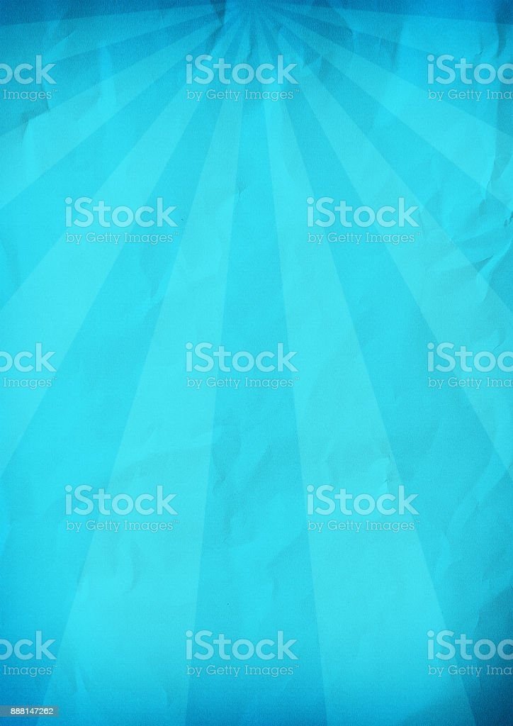 Sunrays background texture. Blue paper. stock photo