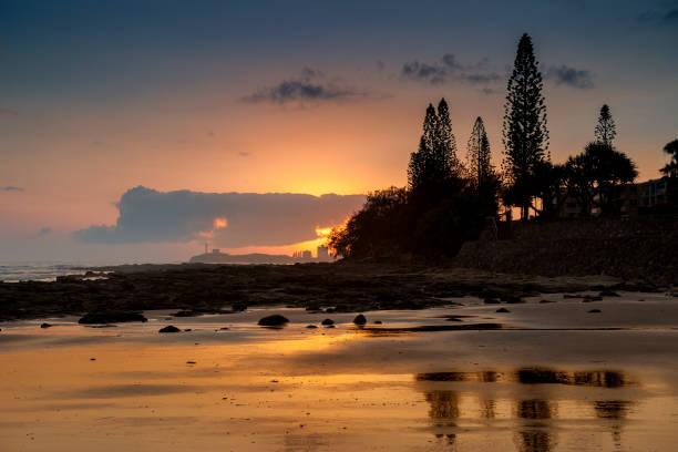 sunrise a alexandra headland in sunshine coast - headland stock pictures, royalty-free photos & images
