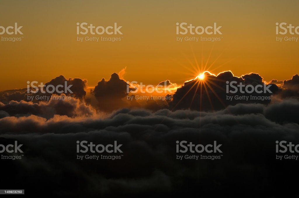Sunrise above the Clouds royalty-free stock photo