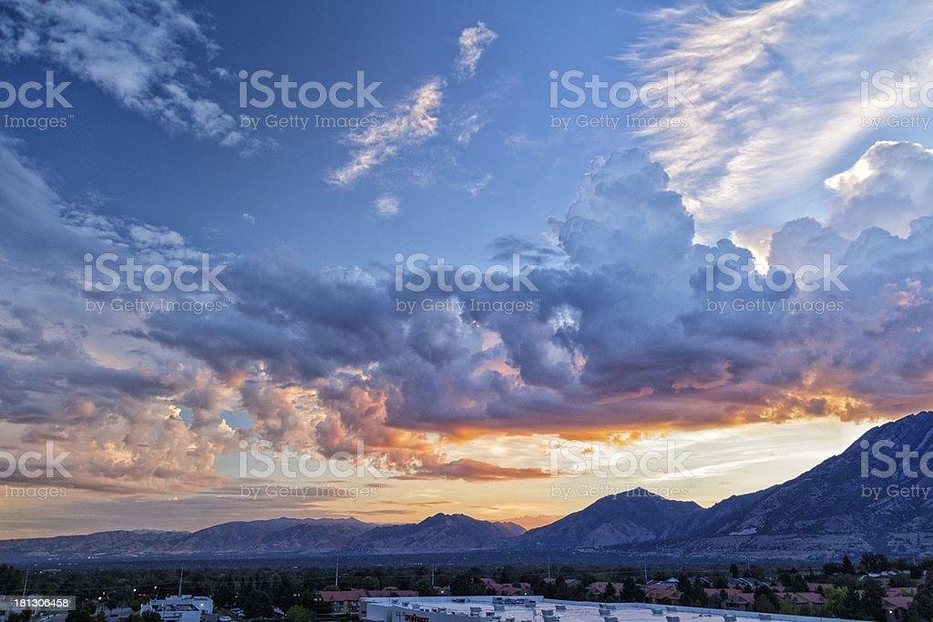Sunrise Across the Salt Lake City Valley stock photo