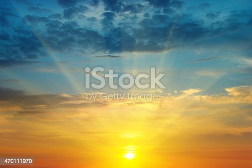 istock sunrise and cloudy sky 470111970