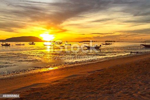 494377786istockphoto Sunrise and fishing boat 493888864